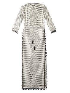 Talitha Jaya Tara-print kaftan / black and white, long dress, cover-up Mode Abaya, Mode Hijab, Modest Fashion, Hijab Fashion, Black And White Outfit, Black White, Moda Indiana, Indian Fashion, Womens Fashion