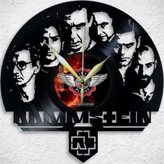 VINYL PLANET Wall Clock RAMMSTEIN Home Record Unique Decor upcycled 12''