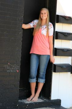 This is one sweet floral short sleeve tee...  Shop this look at The Loft in store or online...