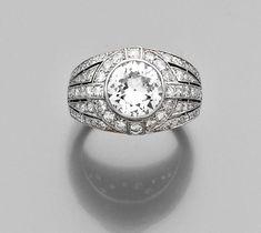 A diamond and platinum ring, by Boucheron