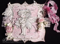 OOAK Handmade Wee Stamps 'Summer Fairy' by StickyWithGlitter, £8.95