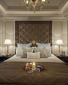 Bedroom Decorating and Design Ideas Bedroom False Ceiling Design, Luxury Bedroom Design, Master Bedroom Interior, Bedroom Closet Design, Bedroom Wall, Bedroom Decor, Interior Design, Suites, Luxurious Bedrooms