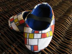 Mondrian inspired baby shoes unique baby gift by bootki on Etsy