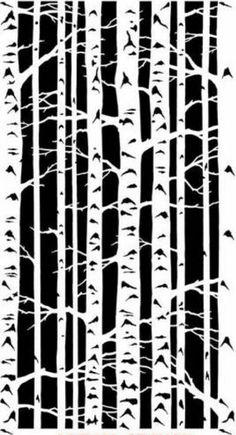 Wall Stencil Stencil Pattern Birch Tree Forest  Layering Stencils for DIY Scrapbooking Painting Stencil