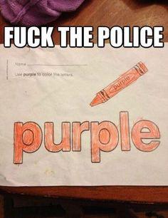 Orange is purple