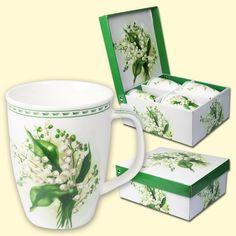 """SHOP-PARADISE.COM:  Tassen-Set """"Maiglöckchen"""", 4 Tassen im Set, 0,35 L, Geschenkverpackung 11,76 €"""