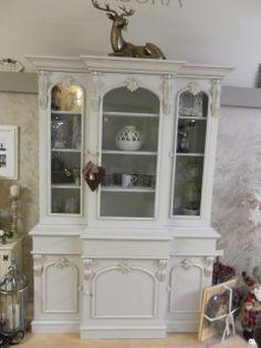 Vintage glazed pine dresser painted in Autentico's ' Chalk Grey' - my favourite!