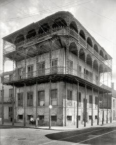 "New Orleans, 1937. ""Le Pretre Mansion, 716 Dauphine Street, built 1835-6. Joseph Saba house.""  Shorpy Historical Photo Archive :: Filigree: 1937"