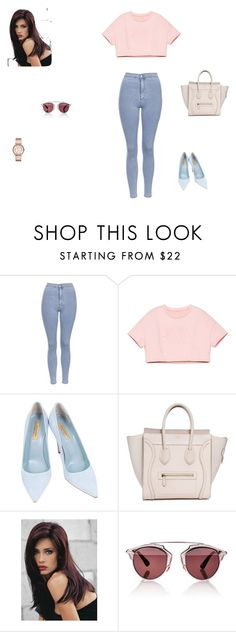 """Sem título #800"" by bibi35 ❤ liked on Polyvore featuring moda, Topshop, Dee Keller, Revlon, Christian Dior, Marc by Marc Jacobs, women's clothing, women's fashion, women e female"