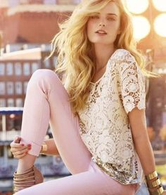 the lace shirt is to die for