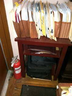 Item #1-40 Wooden end table