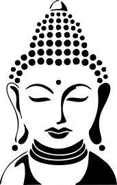 Buddha Drawing, Doodle Art Drawing, Girl Drawing Sketches, Buddha Painting, Buddha Art, Pencil Art Drawings, Buddha Tattoo Design, Stencil Art, Mandala Art