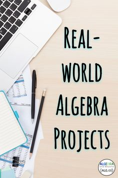 Real-World Algebra Projects are AWESOME! These projects connect math with real world scenarios for students Ap Calculus, Maths Algebra, Algebra Help, Math Multiplication, Math Math, Math Resources, Math Activities, Classroom Resources, Classroom Ideas