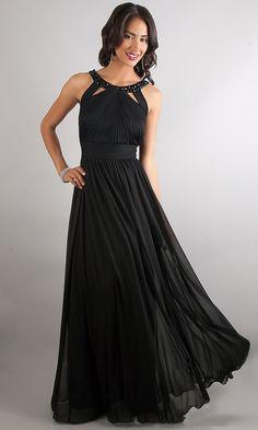 2016 Floor-length Sleeveless A-Line Chiffon Prom Dresses
