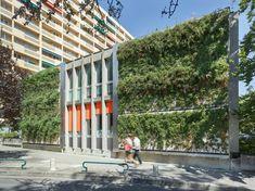 SKYFLOR® - Green Wall Facade System by Creabeton Matériaux | Facade design