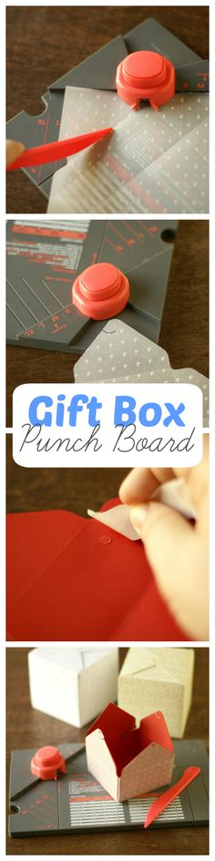 With a gift box punch board you can make beautiful high quality gift boxes for just 30 cents a piece! It's cheep and fun to make custom gift boxes!