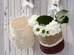 Säilytyskorit paperilangasta Malli, Straw Bag, Knit Crochet, Projects To Try, Knitting, Baskets, Boxes, Objects, Bags