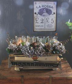 DIY vintage adventskrans med en gammel køkkenvægt, www.bydianawi.com