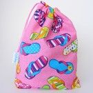 Flip Flop fabric party bag by LootyBag