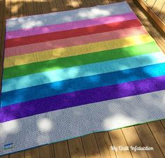 Backing for the Shattered Rainbow - this would be great made as a quilt to take along for a picnic