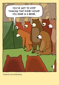 funny camping cartoon - Google Search