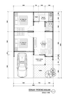 House Layout Plans, House Layouts, Bungalow House Design, Small House Design, 2 Bedroom House Plans, House Floor Plans, Minimalist House Design, Minimalist Home, Tiny House Plans Free