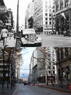 400 Block of Granville Street - 1939/2009