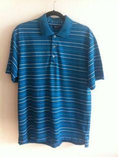 IZOD by Lacoste Men's Blue POLO Shirt Size M Medium PIMA COTTON EUC #IZOD #PoloRugby