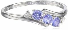 White Gold Tanzanite and Diamond Ring cttw, GHI Color, Clarity), Size 7 Body Jewelry, Jewelry Rings, Jewelery, Pearl Gemstone, Gemstone Jewelry, Tanzanite Stone, 3 Stone Rings, Tanzania, Beautiful Rings