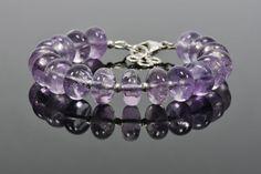 Amethyst Bracelet Lavender Amethyst Gemstone by HealingGemstone
