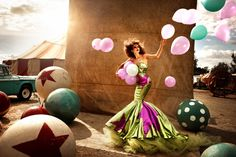 kristian schuller fashion moda photography - chicquero - balls green dress  www.AustralianPerfumeJunkies.com