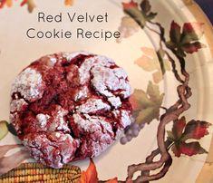 red velvet cookies recipe / easy cookie recipe