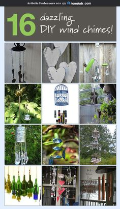 Fantastic wind chimes you can make for your garden!