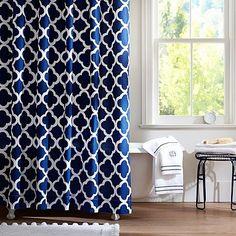 Lucky Clover Shower Curtain, Royal Navy #pbteen