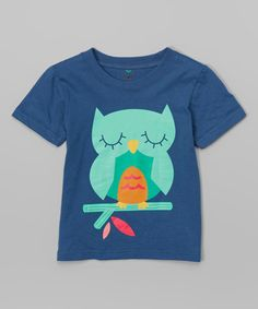 Look what I found on #zulily! Navy Owl Tee - Infant & Toddler #zulilyfinds