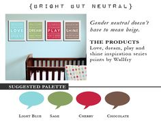 Gender Neutral Color Palette Cool I Love These Colors Together For A Genderneutral Bedroom For . Inspiration Design