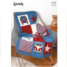 Wendy Pattern 5739 (DK) - Knitted Childs Blanket and Cushion inspiration