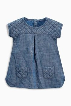 Buy Denim Quilted Dress (0mths-2yrs) online today at Next: United States of America