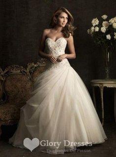 Aliexpress.com   Buy Sexy Beaded Princess dresses Organza Vintage Wedding  dress with Train 2015 Bridal Dress Custom vestidos de noiva from Reliable  dress up ... c6c784be93c6