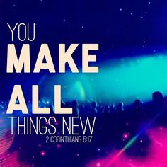 """Everyone loves to get something new. But as a believer in Jesus, you're not only getting something new, you are something new. You are a brand new creation! Your eternal being, your spirit, is re-created in Christ. The old is gone, the new has come! You may not necessarily feel new right away. That's because the Bible tells us that we are to """"work out"""" our salvation. That means you have to retrain your body and mind to act, think, speak and live according to God's ways"""