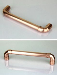 Copper pipe drawer pull