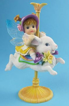 My Little Kitchen Fairies - Spring Bunny Carousel Fairie