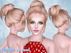 Female hairstyle for adult.  Found in TSR Category 'Female Sims 3 Hairstyles'
