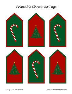 Printable Christmas Tags by Sidetracked Artist, via Flickr