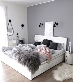 Sublime Useful Tips: Minimalist Living Room Tv Fire Places minimalist home with kids clutter.Minimalist Bedroom Scandinavian Grey minimalist home office decoration.Minimalist Home Office Layout. Room Makeover, Bedroom Makeover, Bedroom Design, House Rooms, Room Inspiration, Bedroom Inspirations, Room Decor, Dream Rooms, New Room