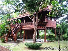 บ้านสมัยรัชการที่ 5 - Google Search Tropical Homes, Thai House, Natural Building, Cabin, House Styles, Nature, Home Decor, Naturaleza, Decoration Home
