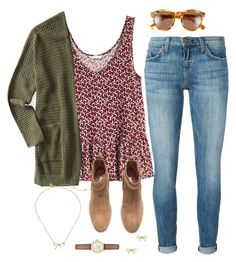 """""""Fall Colors"""" by robramey17 ❤ liked on Polyvore featuring H&M, Aéropostale, Current/Elliott, Kate Spade and Illesteva"""