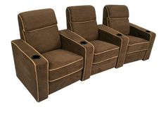 The Lorenzo is a comfortable home theater seat from Seatcraft that features a sharp accent line and comes in elegant curved rows.