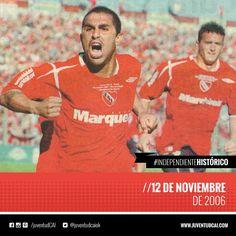 #IndependienteHistorico Se juega el último clásico de Avellaneda en la Doble Visera. Independiente le gana a Racing por 2-0.