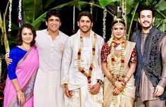 Samantha Photos, Samantha Ruth, Wedding Couple Poses, Wedding Props, Indian Groom Wear, Indian Wear, Celebrity Couples, Celebrity Weddings, Saree Color Combinations